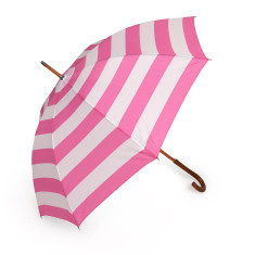 Umbrella in hot pink stripe