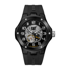 Navigo (Automatic) series Gun metal & rubber watch + free gift