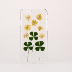 Pressed flower and leaf clear phone case for iPhone & Samsung