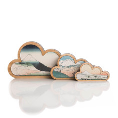 Mountain cloud art (set of 3)