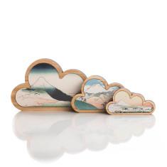 Mountain cloud art (set of 3)