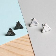 Marble Triangle Stud