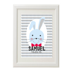 Blue Bunny Personalised Print