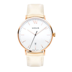 Versa 40 Watch In Rose Gold with Sand Band