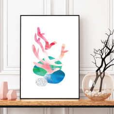 Abstract coral #3 art print (various sizes)