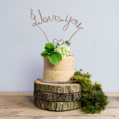 Wire I Love You Cake Topper