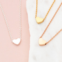 Personalised bridal party heart necklace wedding set