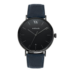 Versa 40 watch in Black with Navy band