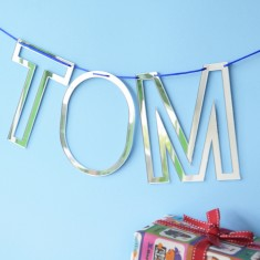 Personalised Alphabet Silver Bunting