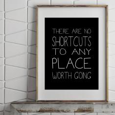 No shortcuts print