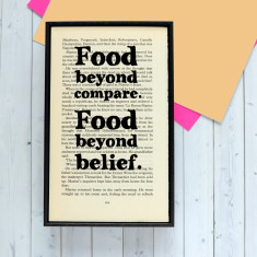 Literary kitchen quote art print