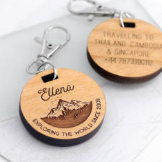 Personalised Mini Mountain Travel Tag
