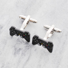 Gaming controller stainless steel cufflinks