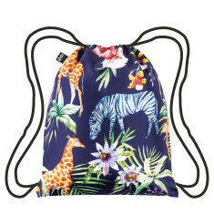 LOQI backpack wild collection zebras