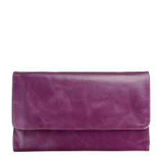 Audrey leather wallet in purple