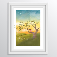 Sunset art print for Nursery/Bedroom - 'At the End of the Day'