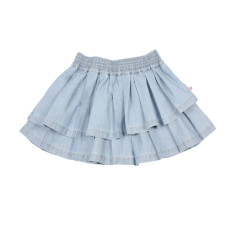 Girls' asymmetrical chambray skirt
