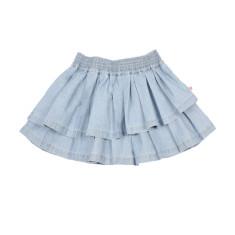 Girls' asymmetrical chambray skirt
