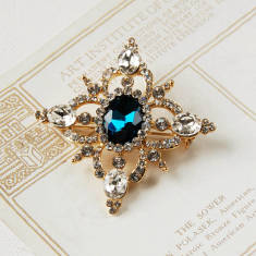 Vintage Style Blue Stone Brooch