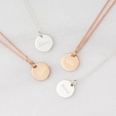 Grace Personalised Sterling Silver Disc Necklace