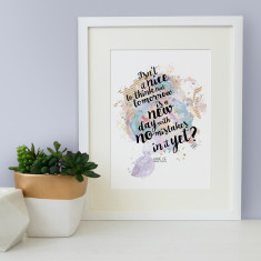 Anne Of Green Gables quote isn't it nice to think  watercolour print