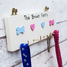 Personalised Key and Dog Lead Hook Plaque