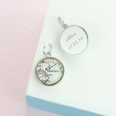 Personalised map charms