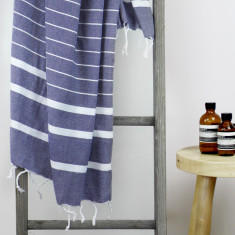 Bondi Turkish Towel in Deep Blue