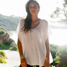 Short sleeve sunsetter blouse