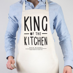 King of the kitchen personalised apron