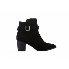 Aria ankle boots in black suede