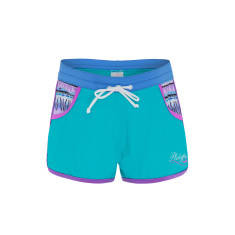 Girls' UPF 50+ aztec lycra shorts