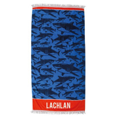 Personalised Beach Towel - Shark