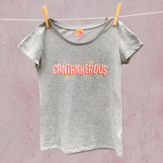 Cantankerous slogan tee for women
