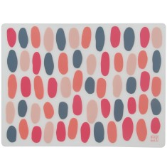 Silicone placemats in peony bubbles (set of 4)