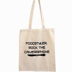 Foodstyler rock the cameraphone tote bag