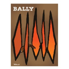 Bally diamonds vintage poster print