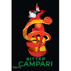 Bitter Campari Orange Peel Jester by Leonetto Cappiello vintage poster print