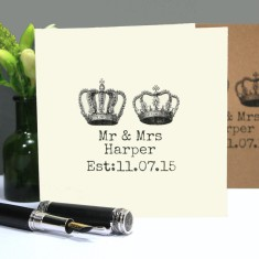 Personalised Mr and Mrs wedding/anniversary card