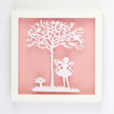 Vintage children fairy paper cut