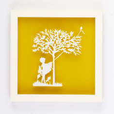 Vintage children kite paper cut