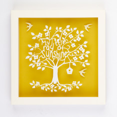 My little ray of sunshine paper cut