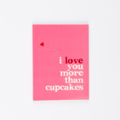 I love you more than cupcakes notebook