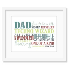 All about dad personalised print (various colours)