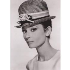 Audrey Hepburn small hat vintage poster print