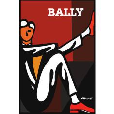 Bally Diptyque Man vintage poster by Villemot