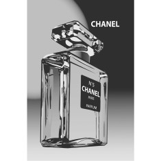 Chanel black label vintage poster print