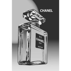 Chanel black label vintage poster print