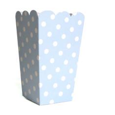 Powder blue ploka dot treat boxes