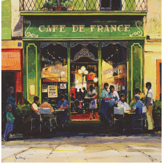 Cafe De France poster print by Jeremy Barlow